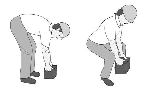 نحوه بلند کردن اجسام برای پیشگیری از کمر درد