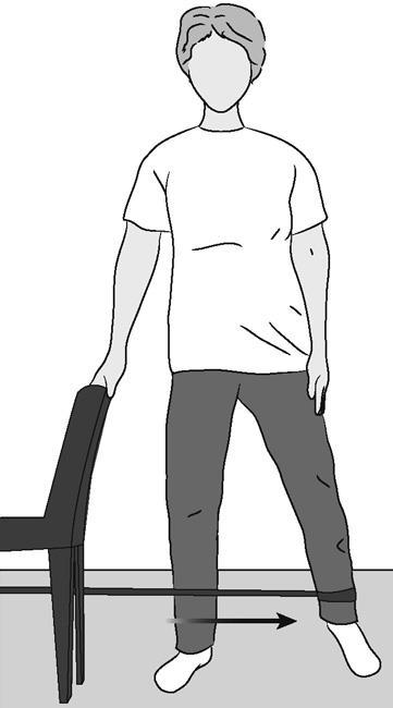دور کردن مقاومتی مفصل لگن از محور بدن